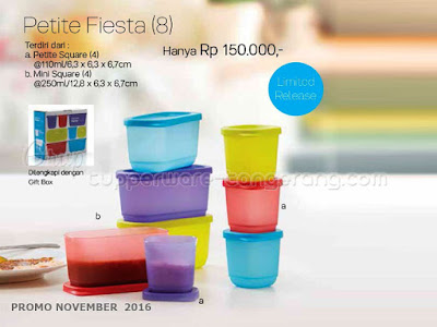 Petite Fiesta Promo Tupperware November 2016