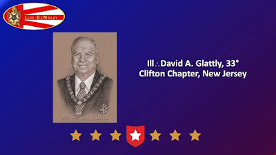 David A. Glattly, 33° Inducted into DeMolay International Hall of Fame. Portrait by Travis Simpkins