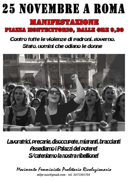 Roma 25 novembre - manifestazione nazionale delle lavoratrici