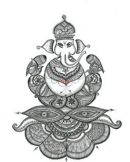 Shri Ganesha Pencil Sketch
