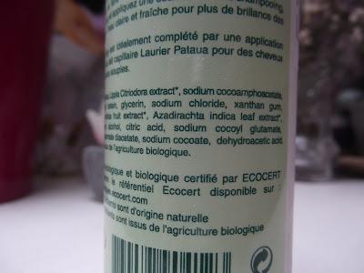 Bio šampón s neemom a amlou Oléanat ingredients