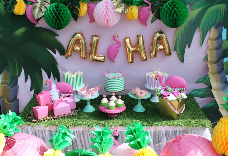 Let S Flamingle Luau Summer Party Ideas Laura S Little