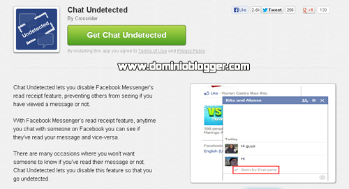 Chat undetected gratis para Facebook