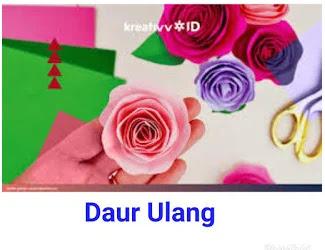 Contoh Bunga Mawar Dari Kertas