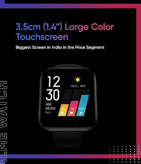 realme watch firstlook price and full specifications.
