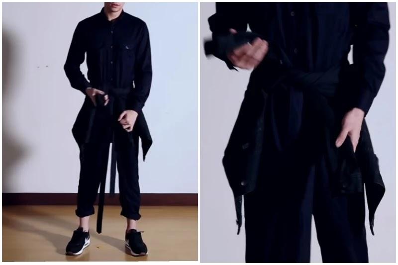 Denim jacket, Style men's jumpsuit.