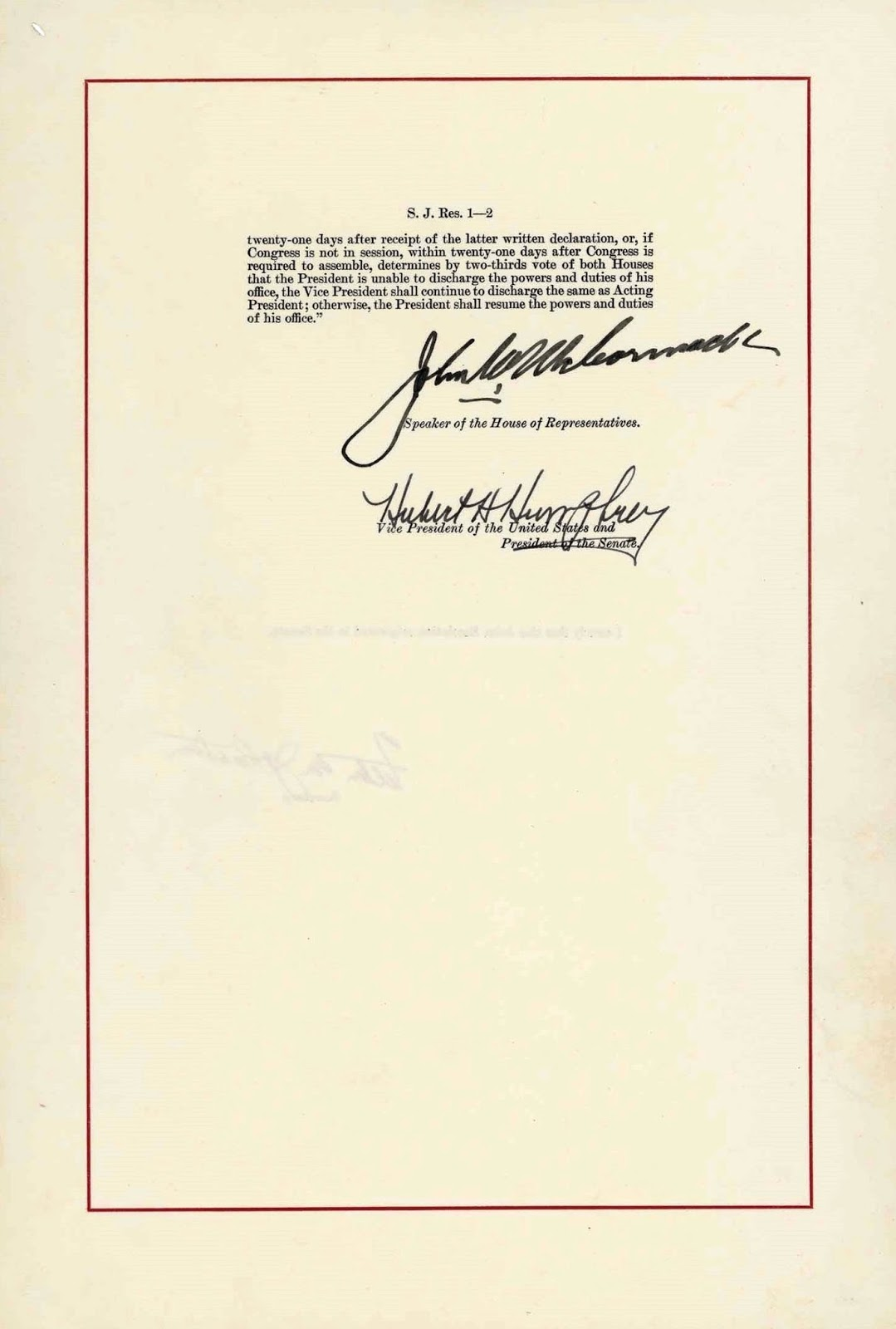 United States Constitution and Citizenship Day: 25th Amendment