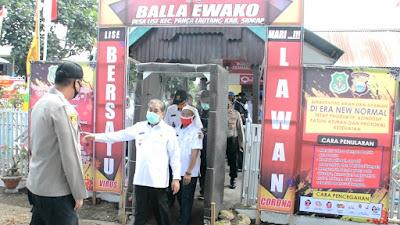 Bupati Sidrap Dollah Mando Meninjau Pos Balla Ewako di Desa Lise