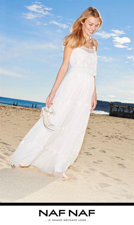 Vestido naf naf blanco