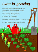 Gardening Birthday Invitation - Printable and Personalised