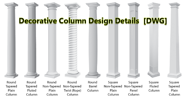 Decorative Column Design Details  [DWG]