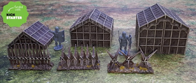 Painted tents and stakes fences picture 1