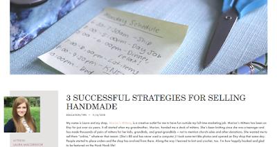 3 SUCCESSFUL STRATEGIES FOR SELLING HANDMADE