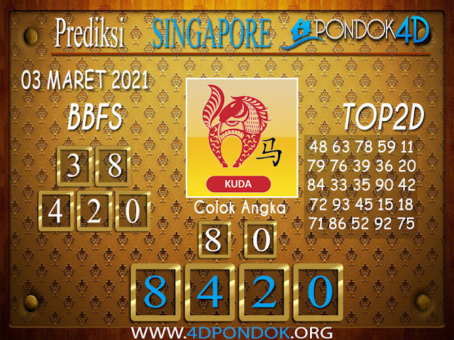 Prediksi Togel SINGAPORE PONDOK4D 03 APRIL 2021