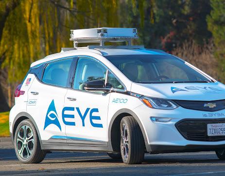 AEye lidars on a car
