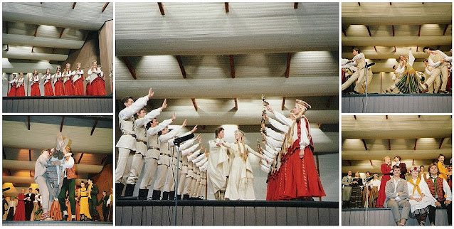 "1990 год. Юрмала. Концертный зал ""Дзинтари"". Латышские народные танцы"