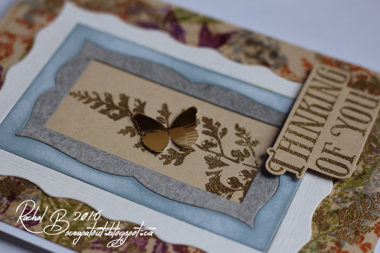 Scrapatout - Handmade card, Impression Obsession dies, Hero Arts stamp & die, Thinking Of You