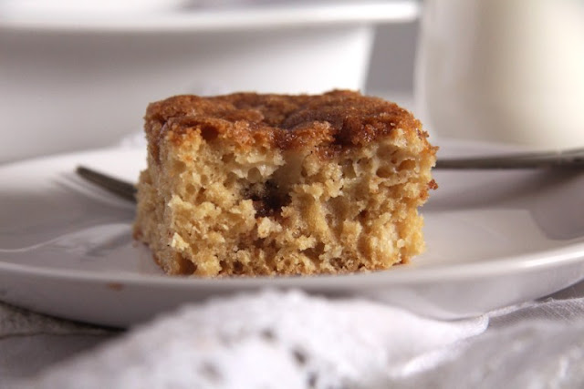 Featured Recipe // Apple Cinnamon Sugar Cake from where is my spoon?