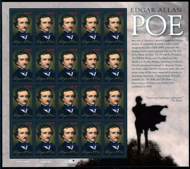 Edgar Allan Poe, Writer 2009 Sheet