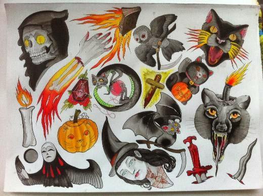 diseños de halloween para tatuajes