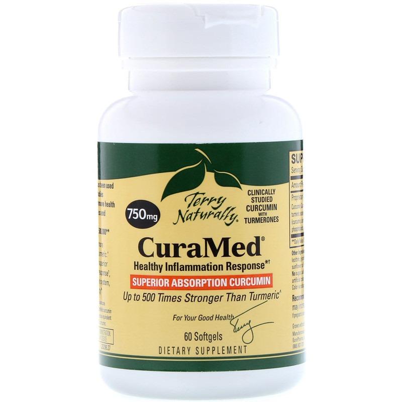 EuroPharma, TerryNaturally, CuraMed, 750 мг, 60 мягких таблеток