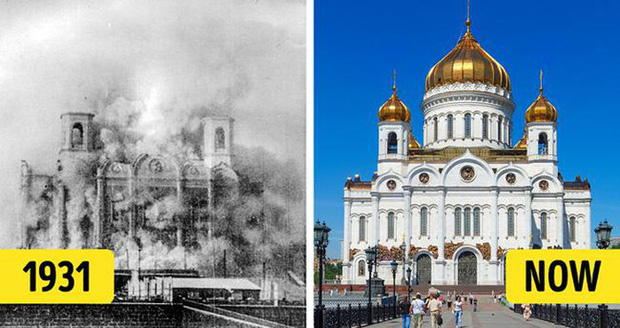 Nhà thờ Chúa Cứu Thế tọa lạc ngay tại thủ đô Matxcova của Nga, được xem là một trong những nhà thờ cao và lớn nhất trên thế giới. Trong quá khứ, Nhà thờ này đã được lệnh phải phá hủy. Vào ngày 5/12/1931, nhà thờ Nga trăm tuổi bị biến thành đống đổ nát và đá cẩm thạch của nó được sử dụng để trang trí các trạm tàu điện ngầm gần đó. Sau một khoảng thời gian, Nhà thờ Chúa Cứu thế mới chính thức được xây dựng lại bằng cách sử dụng thiết kế tương tự ban đầu.