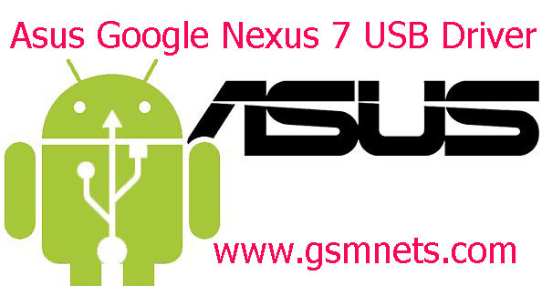 Asus Google Nexus 7 USB Driver Download