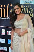 Prajna Actress in backless Cream Choli and transparent saree at IIFA Utsavam Awards 2017 0009.JPG