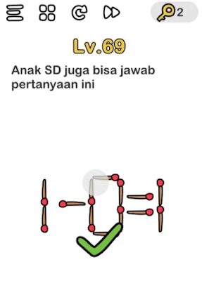 Brain Out Level 69 - [ MUDAH ] Inilah Kunci Jawaban Brain Out Level 41 - 80 Terlengkap