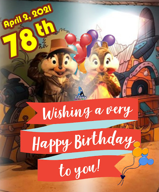 Happy 78th Birthday to Chip 'n' Dale!