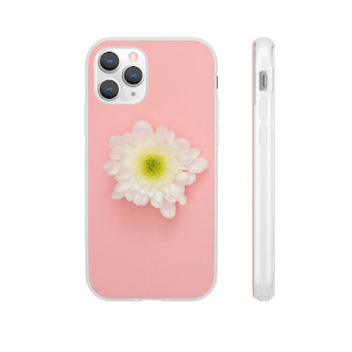 White flower on Pink Phone Case