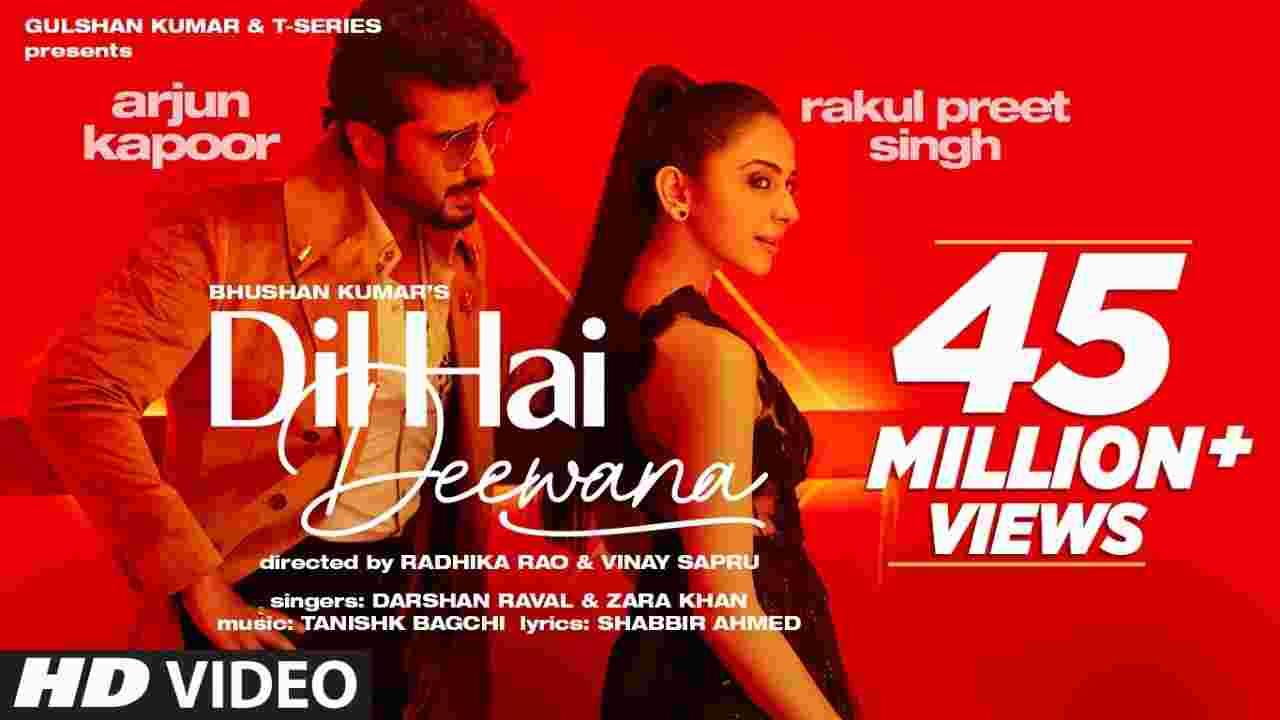 दिल है दीवाना Dil hai deewana lyrics in Hindi Darshan Raval x Zara Khan Hindi Song