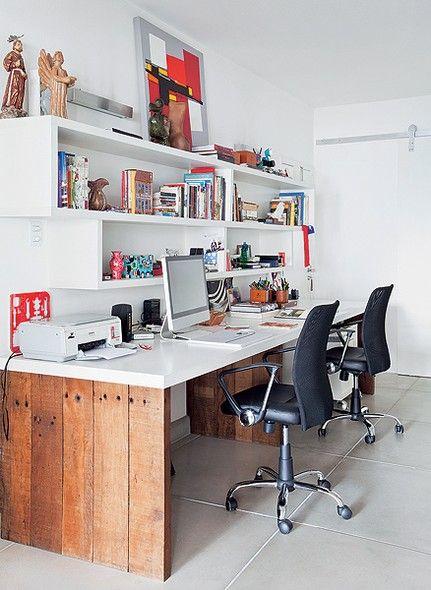 Bancada de trabalho em casa decoração