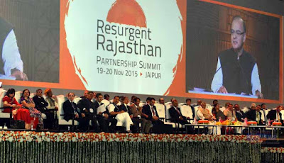 Resurgent Rajasthan Summit, Resurgent Rajasthan Partnership Summit, Resurgent Rajasthan Partnership Summit 2015, Confederation of Indian Industry, Union Finance Minister Arun Jaitley, Rajasthan CM Vasundhara Raje