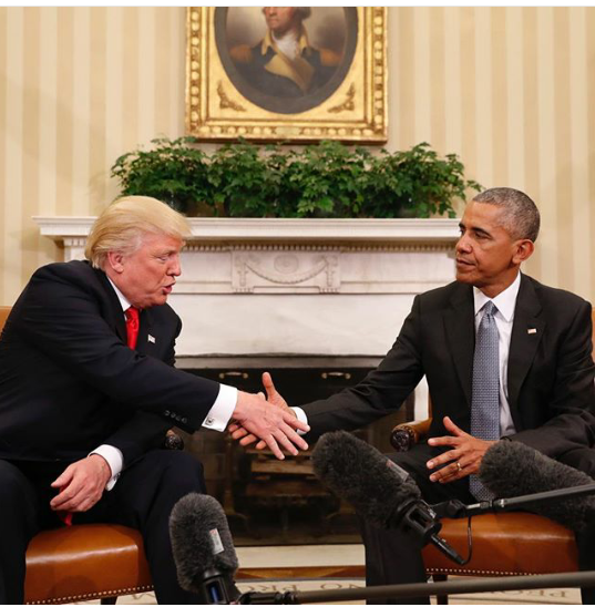 Photos From Obama And Donald Trump's First Meeting Inside The White House