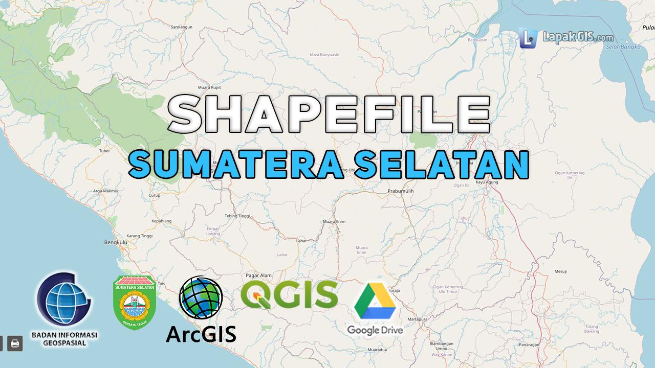 Shapefile Provinsi Sumatera Selatan Terbaru
