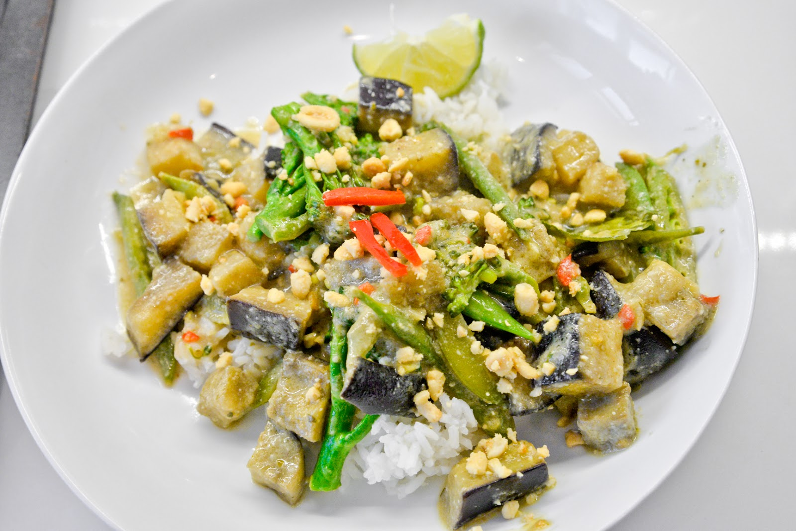 vegetarian Thai green vegetable curry