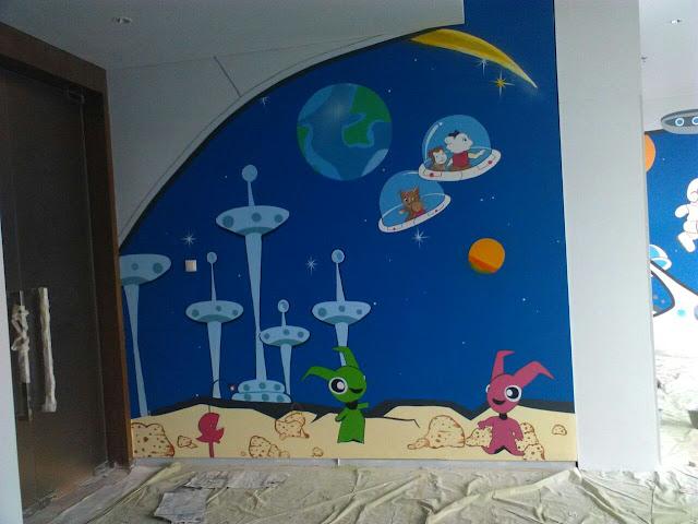 Contoh Lukisan Dinding Prasekolah