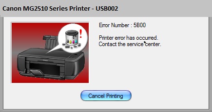 Canon MG2510 Error 5B00 [Solved] | Canon Printer Ink Absorber