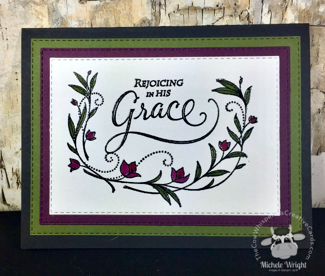 Card, His Grace, Rectangle Stitched Dies, Easter