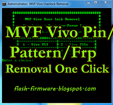 Download MVF Vivo User Lock Removal Tool [LATEST] - APK Firm