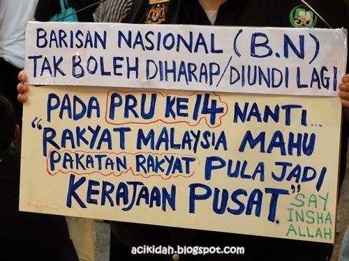Luahan Hati Rakyat Dalam Himpunan Turunkan Harga Malam Tahun Baru 2014.