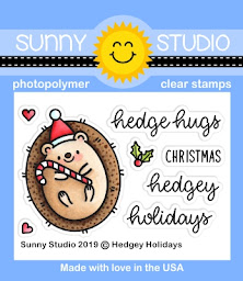 Sunny Studio Stamps Hedgey Holidays 2x3 Clear Photopolymer Stamp Set