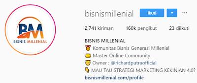 Akun Instagram bisnis paling aktif