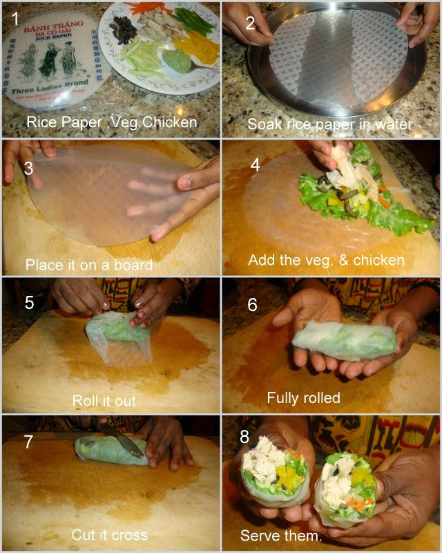 images for Salad Rice Paper Rolls - A Quick Lunch Box Recipe