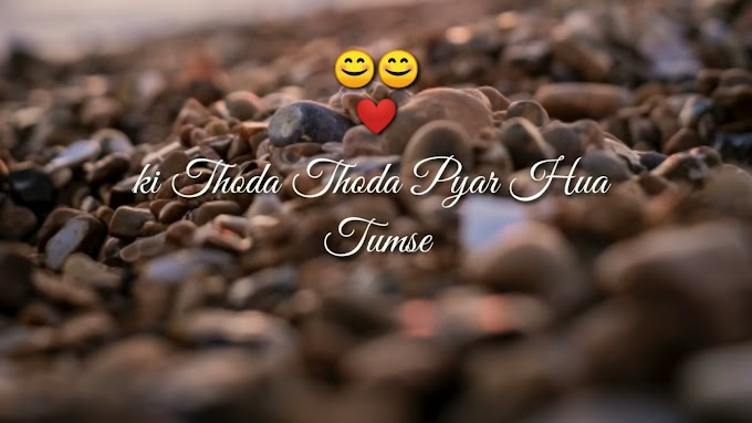 Thoda Thoda Pyar Hua Tumse Lyrics WhatsApp Status Video Download.