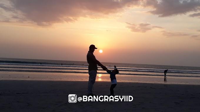 Penampakan Sunset di Pantai Kuta Bali