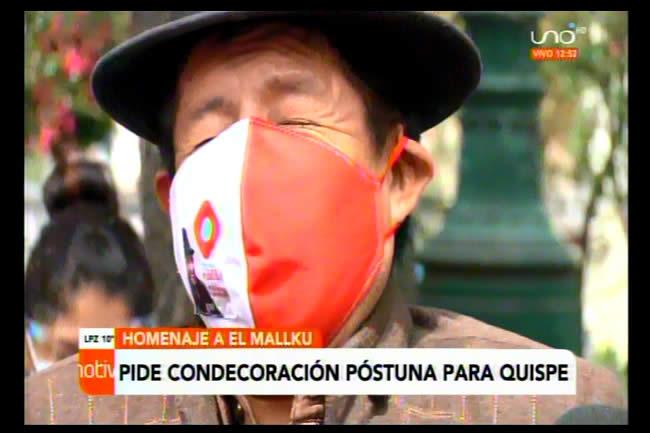Rafael Tata Quispe pide otorgar el Cóndor de los Andes a El Mallku