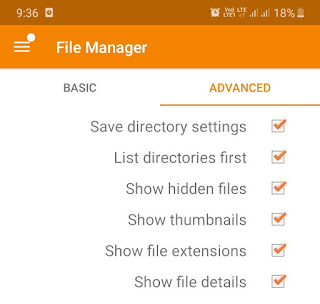 Enable show hidden files feature
