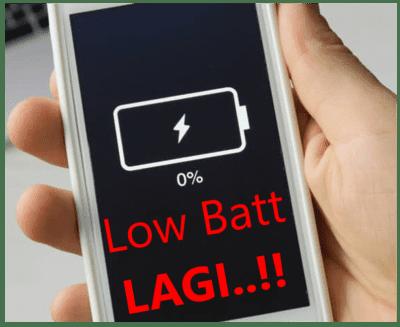 Penyebab baterai hp cepat habis padahal masih baru